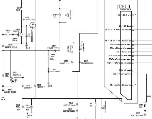 телевизора (транзистор не
